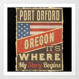 Port Orford Oregon Art Print