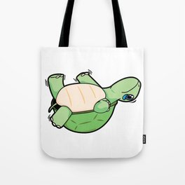 Little Turtle Down! Help Him! Tote Bag