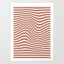 Stripes Swirl Print - Stripes 003 Art Print