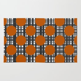 Autumn Dots and Plaid Rug