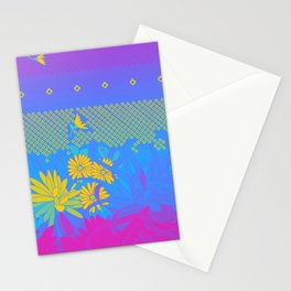 Pansexual Pride Mixed Flowers Illustration Stationery Cards