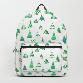 Seamless set of funny and cute Christmas and new year images Backpack