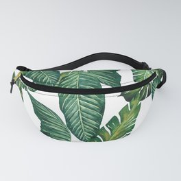 Jungle Leaves, Banana, Monstera II #society6 Fanny Pack