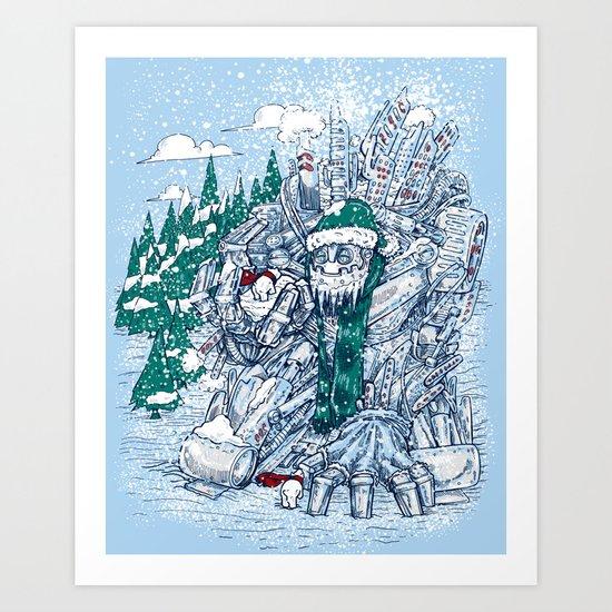 The Snowmaker Art Print