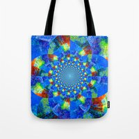 kaleidoscope Tote Bags featuring Kaleidoscope  by haroulita