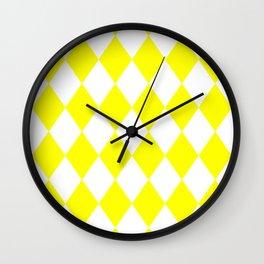 Diamonds (Yellow/White) Wall Clock