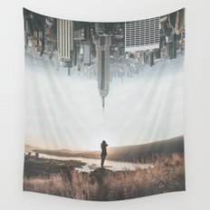 Between Earth & City Wall Tapestry