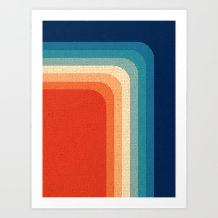 retro 70s color palette iii art print by alisagal society6. Black Bedroom Furniture Sets. Home Design Ideas