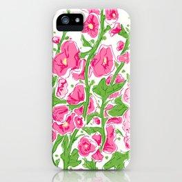 Hollyhocks multi color iPhone Case