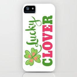 Lucky clover iPhone Case