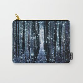 Magical Forest Teal Indigo Elegance Carry-All Pouch