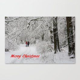 Christmas In The Park Canvas Print