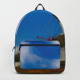 Blue Windmills of Greece Backpack