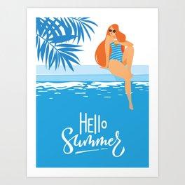 Hello Summer #1 Art Print