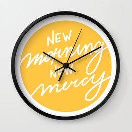 New Morning New Mercy Wall Clock