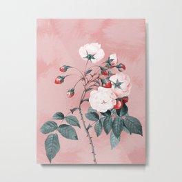 Vintage Flowers III Metal Print