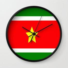 Flag of Suriname Wall Clock