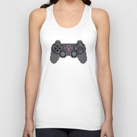 video games Tank Tops featuring Support Women in Video Games by Inappropriately Adorable
