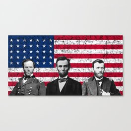 Sherman - Lincoln - Grant Canvas Print