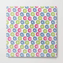 Donuts 2 Pattern Metal Print
