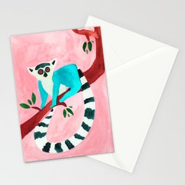 L for Lemur Stationery Cards