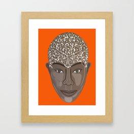 brown visage Framed Art Print