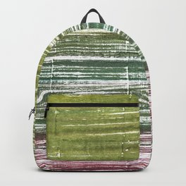 Moss green abstract watercolor Backpack