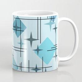 MidCentury Modern Pattern Blue Coffee Mug