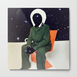 space man red chair Metal Print