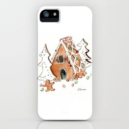 Gingerbread House iPhone Case