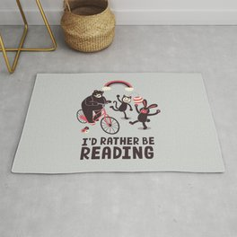 I'd Rather Be Reading Rug