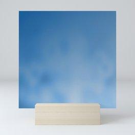 Snorkel blue ombre gradient with bokeh texture Mini Art Print