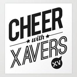 XV Cheerleading Art Print