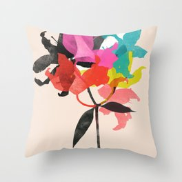 lily 5 sq Throw Pillow
