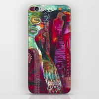 """flora bowley iPhone & iPod Skins featuring """"True Nature"""" Original Painting by Flora Bowley by Flora Bowley"""