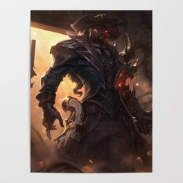 High Noon Lucian League Of Legends Poster
