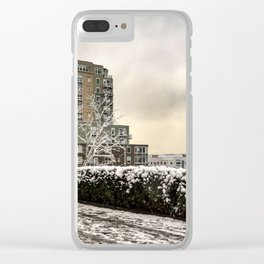 Snow in Seattle Clear iPhone Case