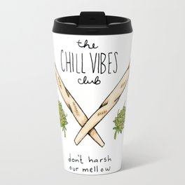 Chill Vibes Club Coat-of-Arms Travel Mug