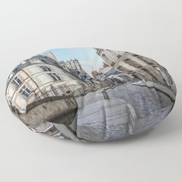 Old town street of Rennes Floor Pillow