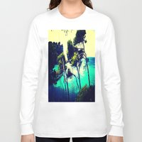 spain Long Sleeve T-shirts featuring Menorca Spain by Sankakkei SS