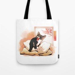 Sleep In Spring Tote Bag