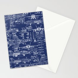 F-18 Blueprints Stationery Cards