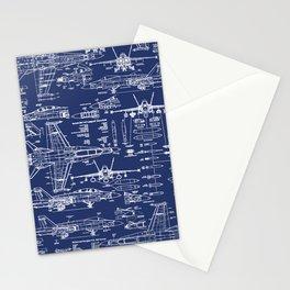 F-18 Blueprints Stationery Cards