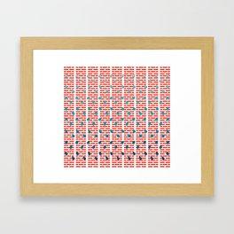 stay in Framed Art Print