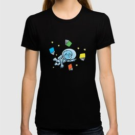 little astronaut and books T-shirt
