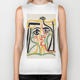Picasso - Woman's head #1 Biker Tank