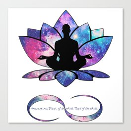 Free your Soul to Infinity Canvas Print