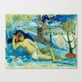 "Paul Gauguin ""Te arii vahine (The Queen of Beauty or The Noble Queen)"" Canvas Print"