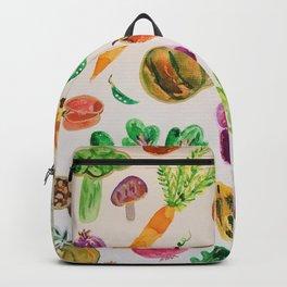 watercolor veggie market Backpack
