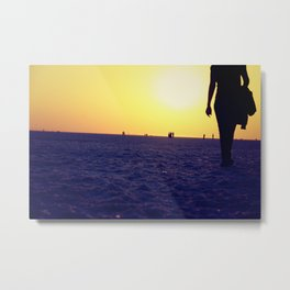 Walking away Metal Print